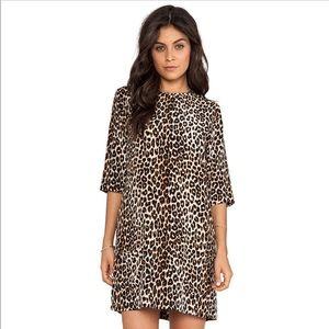 Equipment | Leopard Print Aubrey 100% Silk Dress